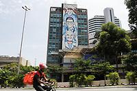 27.09.2020 - Mural em homenagem aos profissionais da saúde em SP