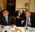 """CESARE PREVITI, ANTONIO BALDASSARRE E PASQUALE SQUITIERI<br /> 75° COMPLEANNO DI LINO JANNUZZI - """"DA FORTUNATO AL PANTHEON"""" ROMA 2003"""