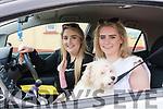 Aoife Greaney (Annascaul) and Laura Moriarty (Doonshean) with Bella at the Tóirchiste i nGluaisteain during Féile Lios Póil over the weekend.