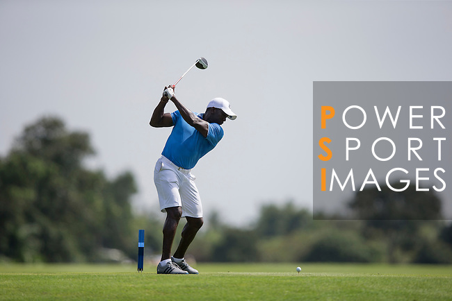 Dwight Yorke plays during the World Celebrity Pro-Am 2016 Mission Hills China Golf Tournament on 22 October 2016, in Haikou, China. Photo by Victor Fraile / Power Sport Images