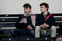Fans in attendance during the Greene King IPA Championship match between London Scottish Football Club and Nottingham Rugby at Richmond Athletic Ground, Richmond, United Kingdom on 7 February 2020. Photo by Carlton Myrie.