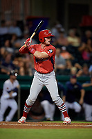Peoria Chiefs right fielder Brandon Benson (3) at bat during a game against the Bowling Green Hot Rods on September 15, 2018 at Bowling Green Ballpark in Bowling Green, Kentucky.  Bowling Green defeated Peoria 6-1.  (Mike Janes/Four Seam Images)