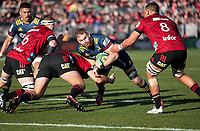 Jack Whetton in action during the 2020 Super Rugby match between the Crusaders and Highlanders at Orangetheory Stadium in Christchurch, New Zealand on Saturday, 9 August 2020. Photo: Joe Johnson / lintottphoto.co.nz