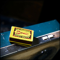 Box of matches on top of a radio