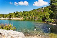 Lake Beletsi in Parnitha, Greece
