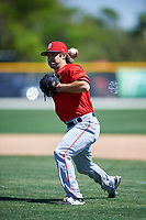 Boston Red Sox Mike Miller (5) during practice before a minor league Spring Training game against the Baltimore Orioles on March 16, 2017 at the Buck O'Neil Baseball Complex in Sarasota, Florida. (Mike Janes/Four Seam Images)