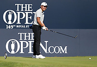 17th July 2021; Royal St Georges Golf Club, Sandwich, Kent, England; The Open Championship Golf, Day Three; amateur player Yuxin Lin (CHN) prepares to hit his tee shot on the first hole