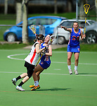 FRANKFURT AM MAIN, GERMANY - April 14: Mareile Kriwall #6 of Germany during the Deutschland Lacrosse International Tournament match between Germany vs Great Britain during the on April 14, 2013 in Frankfurt am Main, Germany. Great Britain won, 10-9. (Photo by Dirk Markgraf)