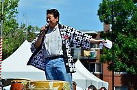 Montreal (Qc) CANADA - August 13, 2011 -Monsieur Alan Itakura,  Président du Centre Culturel Canadien Japonais de Montréal  a mentionné<br /> que ''le Centre Culturel Canadien Japonais de Montréal  est fier d'être un commanditaire du Matsuri Japon pour la dixième année consécutive''<br /> en plus de féliciter la Présidente du Matsuri-Japon Jennifer Sakai et son équipe