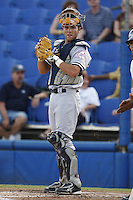 July 11, 2009:  Catcher Austin Romine of the Tampa Yankees during a game at Dunedin Stadium in Dunedin, FL.  Tampa is the Florida State League High-A affiliate of the New York Yankees.  Photo By Mike Janes/Four Seam Images