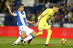 CD Leganes' Gabriel Pires (l) and Villarreal CF's Samu Castillejo during La Liga match. December 3,2016. (ALTERPHOTOS/Acero)