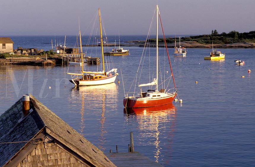 Maine, Corea, ME, Scenic harbor of the fishing village of Corea.