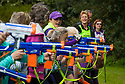 05/05/18<br /> <br /> Nordic walkers take aim with Nerf guns as they take part in a shoot, walk, shoot, walk competition known as a the 'Binerflon' at the Rustick Nordic Walking Festival in Tissington, Derbyshire.<br /> <br /> All Rights Reserved: F Stop Press Ltd. +44(0)1335 344240  www.fstoppress.com.