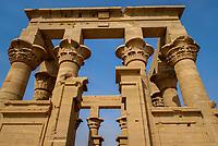 Trajan's Kiosk, Philae Temple, Agilkia Island, Nile River, Aswan, Egypt