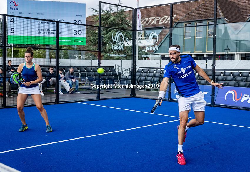 Rosmalen, Netherlands, 15 June, 2019, Tennis, Libema Open, NK Final Padel Mixed: Rosalie van der Hoek and Uriël Maarsen (NED)<br /> Photo: Henk Koster/tennisimages.com