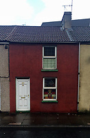 Pictured: The house of Graham McMurray in Pontypridd, Wales, UK<br /> Re: Grayam McMurray, the uncle of Emma Rhys-Jones, the fiancee of Gareth Bale, has appeared at Cardiff Crown Court, to deny the theft of £65090 which was found stuffed up the chimney of his house at Pontypridd, South Wales, UK