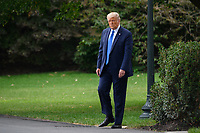 U.S. President Donald Trump walks to the South Lawn of the White House before boarding Marine One in Washington, D.C., U.S., on Thursday, September 24, 2020.<br /> CAP/MPI/RS<br /> ©RS/MPI/Capital Pictures