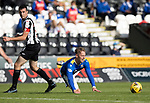St Mirren v St Johnstone…29.08.21  SMiSA Stadium    SPFL<br />Hayden Muller is taken out by Joe Shaughnessy<br />Picture by Graeme Hart.<br />Copyright Perthshire Picture Agency<br />Tel: 01738 623350  Mobile: 07990 594431