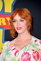 "LOS ANGELES, USA. June 12, 2019: Christina Hendricks at the world premiere of ""Toy Story 4"" at the El Capitan Theatre.<br /> Picture: Paul Smith/Featureflash"