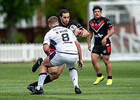 Jordan Williams of London Broncos during the Betfred Championship match between London Broncos and Newcastle Thunder at The Rock, Rosslyn Park, London, England on 9 May 2021. Photo by Liam McAvoy.