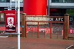 Club branding at  The Riverside stadium Middlesbrough. 16th January 2021, Middlesbrough 0 Birmingham 1.