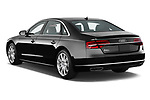 Car pictures of rear three quarter view of 2017 Audi A8 3.0T LWB quattro tiptronic 4 Door Sedan angular rear