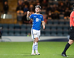 Dundee v St Johnstone…29.12.18…   Dens Park    SPFL<br />Matty Kennedy salutes the saints fans as he is subbed<br />Picture by Graeme Hart. <br />Copyright Perthshire Picture Agency<br />Tel: 01738 623350  Mobile: 07990 594431