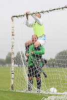 Meath United players put up the goal net prior to an East London Sunday League game at Hackney Marshes - 05/10/08 - MANDATORY CREDIT: Gavin Ellis/TGSPHOTO - Self billing applies where appropriate - Tel: 0845 094 6026