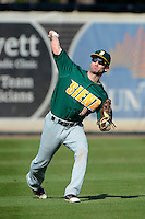 Siena Saints outfielder Mike Williams #9 during practice before a game against the Central Florida Knights at Jay Bergman Field on February 16, 2013 in Orlando, Florida.  Siena defeated UCF 7-4.  (Mike Janes/Four Seam Images)