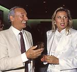 PIERO ANGELA E OLGA BISERA<br /> FESTA ENRICO COVERI AL TOULA'<br /> MILANO 1989