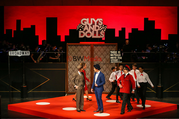 "Kings College Glee Club performance of ""Guys and Dolls"", Monday 9 April 2018. Photo: Simon Watts/www.bwmedia.co.nz"