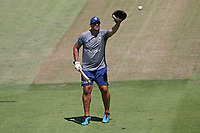 Essex bowling coach Andre Nel during the warm up ahead of Glamorgan vs Essex Eagles, Vitality Blast T20 Cricket at the Sophia Gardens Cardiff on 13th June 2021