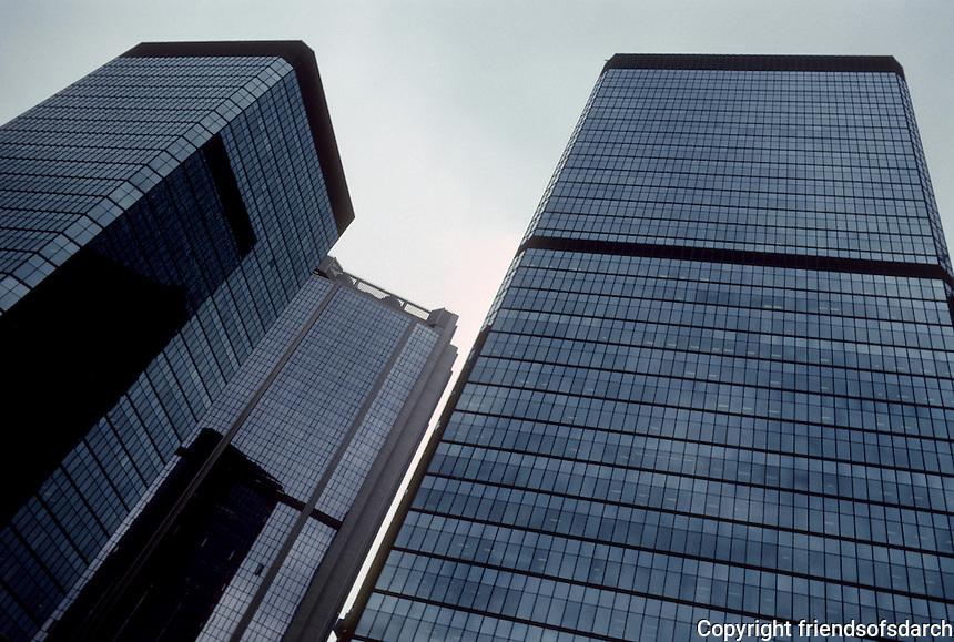 Hong Kong: Office Towers--looking up. Photo '82.