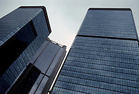 Hong Kong: Office Towers--looking up. Photo '82.