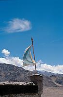 Indien, Ladakh (Jammu+Kashmir), Kloster Tikse, Gebetsfahne