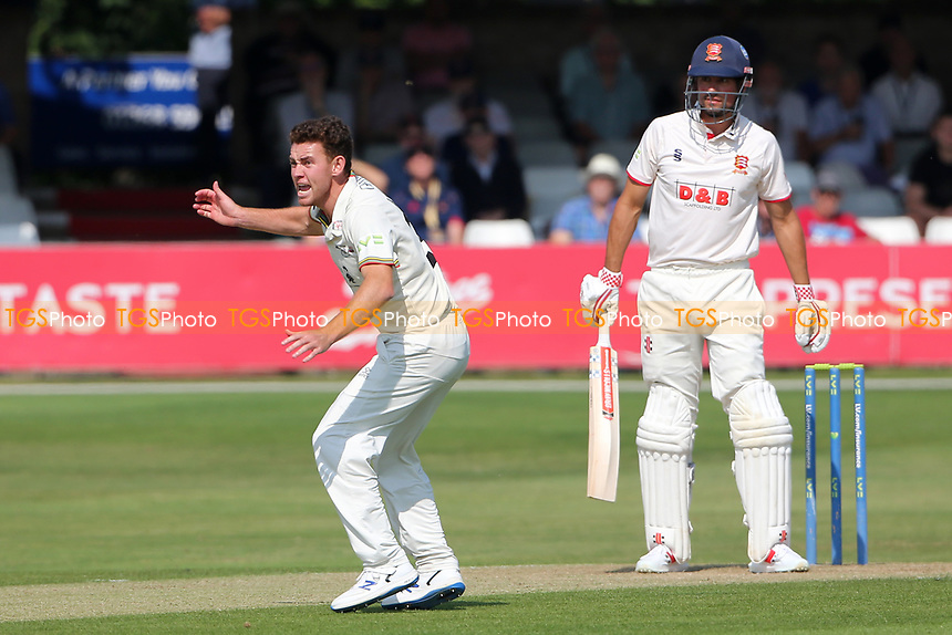 Ryan Higgins of Gloucestershire claims the wicket of Sir Alastair Cook during Essex CCC vs Gloucestershire CCC, LV Insurance County Championship Division 2 Cricket at The Cloudfm County Ground on 5th September 2021