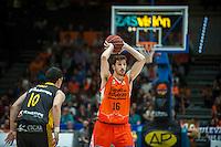 VALENCIA, SPAIN - APRIL 24: Guillem Vives, Perez during ENDESA LEAGUE match between Valencia Basket Club and Iberostar Gran Canaria at Fonteta Stadium on April, 2016 in Valencia, Spain