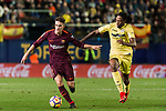 Denis Suarez Fernandez (L) of FC Barcelona fights for the ball with Ruben Afonso Borges Semedo of Villarreal CF during the La Liga 2017-18 match between Villarreal CF and FC Barcelona at Estadio de la Ceramica on 10 December 2017 in Villarreal, Spain. Photo by Maria Jose Segovia Carmona / Power Sport Images