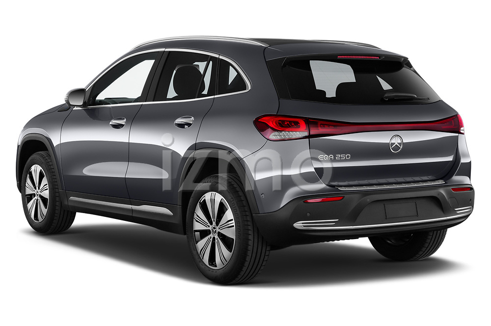 Car pictures of rear three quarter view of 2021 Mercedes Benz EQA 250-Business 5 Door SUV Angular Rear