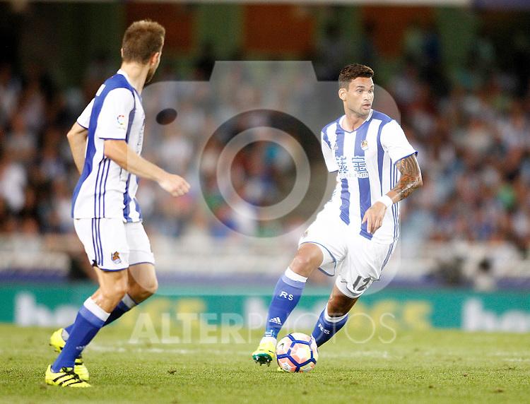 Real Sociedad's William Jose during La Liga match. August 21,2016. (ALTERPHOTOS/Acero)