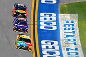 2017 NASCAR Monster Energy Cup Series - Daytona 500<br /> Daytona International Speedway, Daytona Beach, FL USA<br /> Sunday 26 February 2017<br /> Kyle Busch, M&M's Toyota Camry, Denny Hamlin, FedEx Express Toyota Camry and Martin Truex Jr, Bass Pro Shops/TRACKER BOATS Toyota Camry<br /> World Copyright: Nigel Kinrade/LAT Images<br /> <br /> ref: Digital Image 17DAY2nk14542