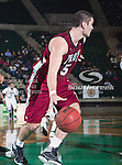 Troy Trojans guard/forward Justin Wright (5) in action during the game between the Troy Trojans and the University of North Texas Mean Green at the North Texas Coliseum,the Super Pit, in Denton, Texas. UNT defeats Troy 87 to 65.....