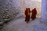 Monks at Lo Manthang, Mustang valley, Nepal, 2008