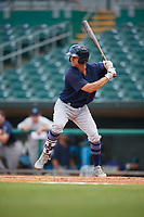 Mobile BayBears Bo Way (3) at bat during a Southern League game against the Montgomery Biscuits on May 2, 2019 at Riverwalk Stadium in Montgomery, Alabama.  Mobile defeated Montgomery 3-1.  (Mike Janes/Four Seam Images)