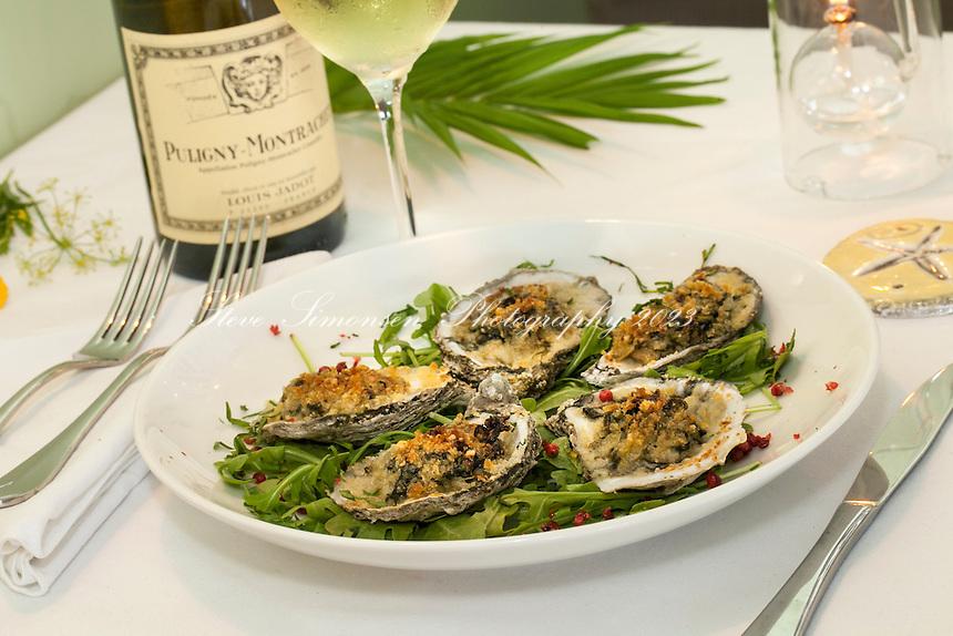 The Terrace Restaurant, St. John<br /> Baked oysters