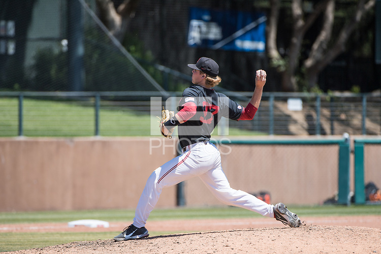 STANFORD, CA - MAY 29: Tommy O'Rourke during a game between Oregon State University and Stanford Baseball at Sunken Diamond on May 29, 2021 in Stanford, California.