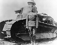 George Patton in france , 1918