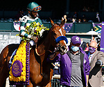 November 7, 2020 : Gamine, ridden by John Velazquez, wins the Filly & Mare Sprint on Breeders' Cup Championship Saturday at Keeneland Race Course in Lexington, Kentucky on November 7, 2020. Candice Chavez/Breeders' Cup/Eclipse Sportswire/CSM
