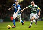 Celtic v St Johnstone…25.01.17     SPFL    Celtic Park<br />Blair Alston gets away from Scott Brown<br />Picture by Graeme Hart.<br />Copyright Perthshire Picture Agency<br />Tel: 01738 623350  Mobile: 07990 594431