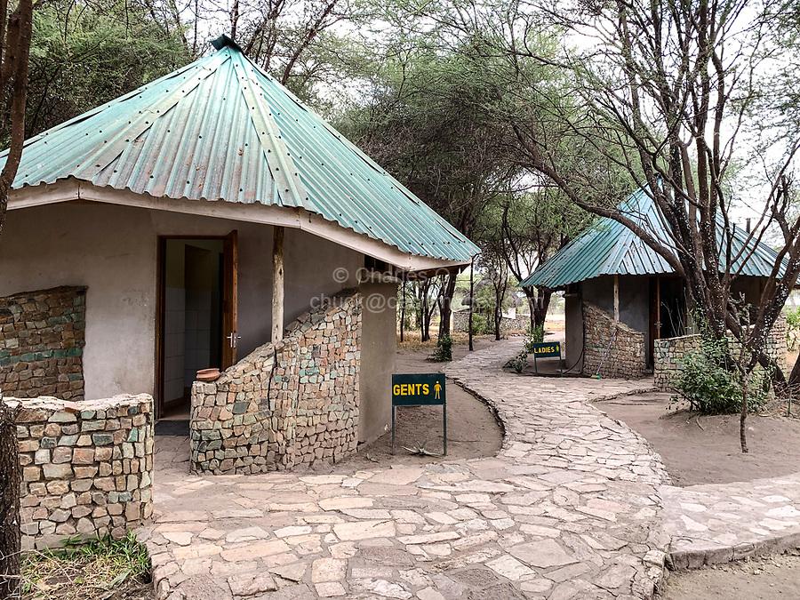 Tanzania. Tarangire.  Restrooms at Entrance to Park.